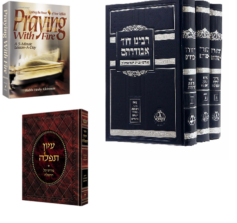 ספרים על תפילה  Books on Tefillah-Hebrew/English
