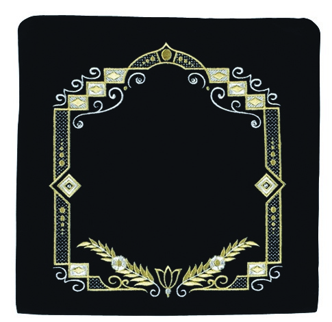 Detailed Square.  Black Primarily Gold