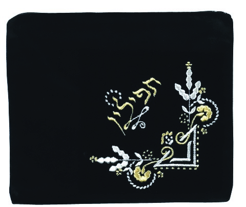 Fancy Tefillin Logo Black Primarily Gold