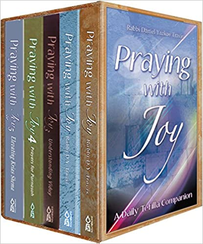 Praying With Joy-Set of 5 Volumes, Pocket Size, Paperback Cover (By Rabbi Daniel Y. Travis)
