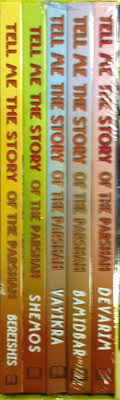 SET OF 5 TELL ME THE STORY PLASTIC COATED
