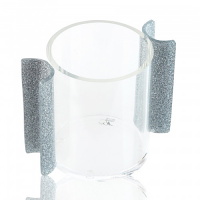 Clear Cup  Silver Handles