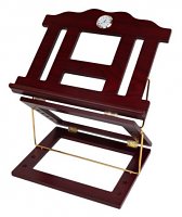 Wooden 2 Tone Book Stand 2 Position Gold Clock 15 x12 ""