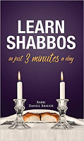 Learn Shabbos in 3 Minutes a Day (Hard Cover)