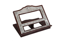 Wooden Book Stand Pewter 13.5 x11.5 ""