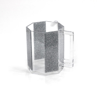 Hexagon Washing Cup Silver glitter