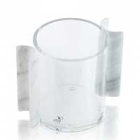 Clear Cup + Marble Handle