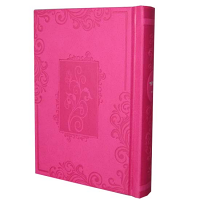Complete Siddur - Small Sefard Hot Pink Blossoms in Window Frame Hardcover Complete Hebrew Siddur