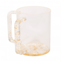 WASH CUP LUCITE GOLD HANDLES