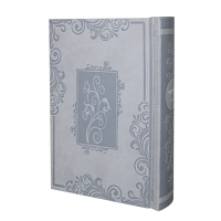 Complete Siddur - Small Ashkenaz Grey Blossoms in Window Frame Hardcover Complete Hebrew Siddur