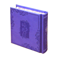 Complete Siddur - Small Square Album Size Two-Tone Lavender Blossoms-in-Window-Frame Hardcover Hebrew Siddur