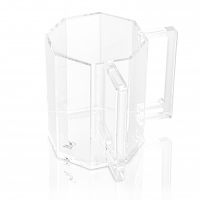 HEXAGON WASH CUP CLEAR