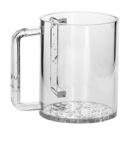 WASH CUP LUCITE SILVER HANDLES
