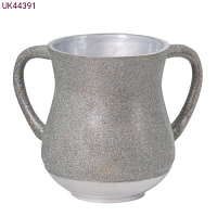 Elegant Aluminum Washing Cup - In Colorful & Silver Glitter coating
