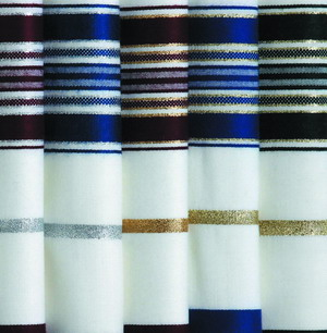 Tallis Wool Lurex Stripes